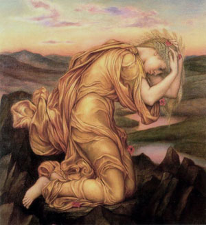 Demeter Mourning Persephone (Evelyn De Morgan, 1906)